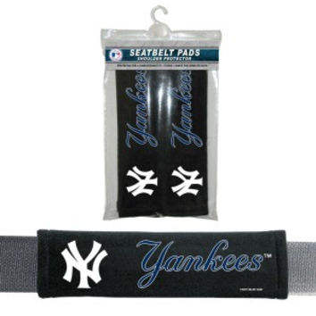 New York Yankees Velour Seat Belt Pads