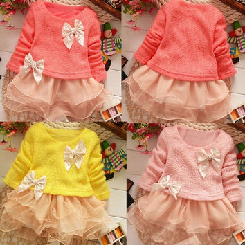 Toddlers Baby Girl Princess Lace Party Dress Kid Flower Tulle Dress clothes 1-5Y 7_S = 1905845124