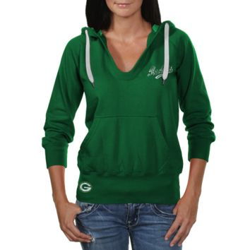 Touch by Alyssa Milano Green Bay Packers Ladies In the Bleachers Pullover Hoodie Sweatshirt - Green