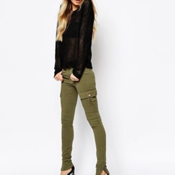 Noisy May Tall Skinny Cargo Pants at asos.com