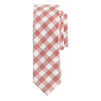 J.Crew Mens Textured Cotton Tie In Gingham