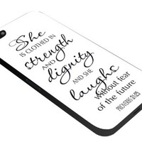 She is Clothes Quotes Iphone 4 4s 5 5c 6 6plus Case (iphone 4/4s black)