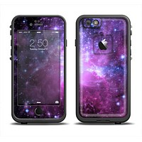 The Violet Glowing Nebula Apple iPhone 6 LifeProof Fre Case Skin Set
