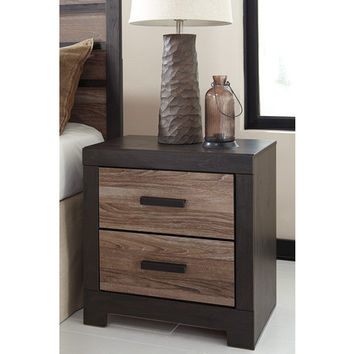 B325-92 Harlinton Two Drawer Night Stand - Warm Gray/Charcoal - Free Shipping!