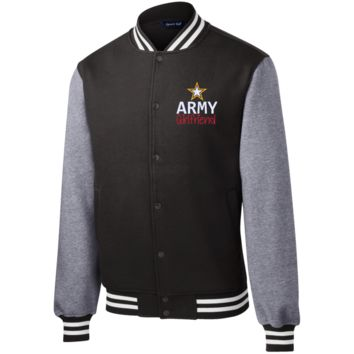 Army Girlfriiend Letterman Jacket