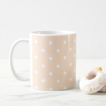 Light Bisque Polka Dots Coffee Mug