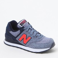 New Balance 574 Sweatshirt Sneakers - Womens Shoes - Purple