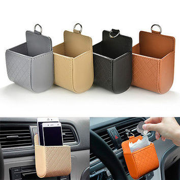 Car Seat Back Tidy Storage Coin Bag Case Organizer Holder Pounch Box For phone B