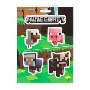 Minecraft Logo & Baby Animals Chicken Pig Cow Sheep Sticker Decal 5-piece set