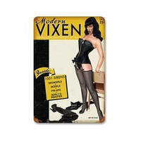 Bettie Page™ Modern Vixen Metal Sign by Retro-A-Go-Go!