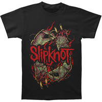 Slipknot Men's  Stitch Hands Slim Fit T-shirt Black Rockabilia