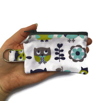 Owl Coin Purse, Owl Extra Small Purse, Keyring Change Pouch