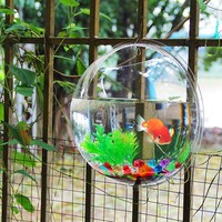 Free Shipping Acrylic Fish Bowl Wall Hanging Aquarium Tank Aquatic Pet Supplies Pet Products Wall Mount Fish Tank