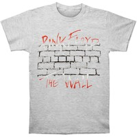 "Pink Floyd Men's  Roger Waters ""The Wall"" Logo Slim Fit T-shirt Heather Gray"