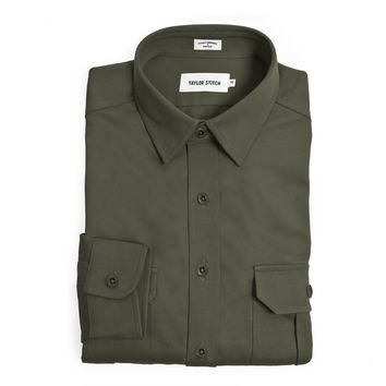 Olive Twill Highlands Shirt