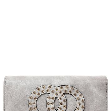 Embellished Purse in Grey