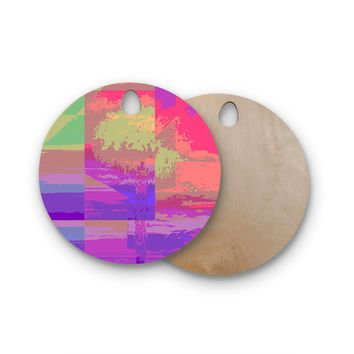 "Nina May ""Impermiate Poster"" Round Wooden Cutting Board"