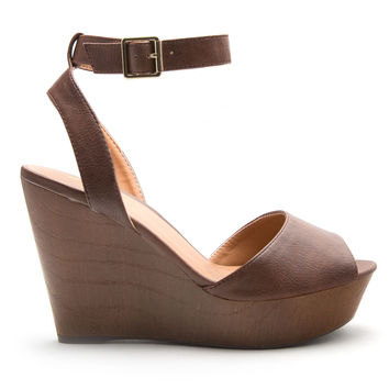 Emily Wedges in Brown