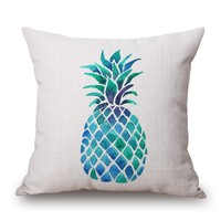 Pineapple Madness Throw Pillow Cover