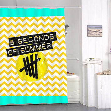 chevron 5 second of summer special custom shower curtains that will make your bathroom adorable