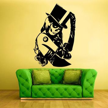 Wall Vinyl Decal Sticker Bedroom Decal Zomby Girl Horror  z495