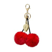 Red Cherry Keychain