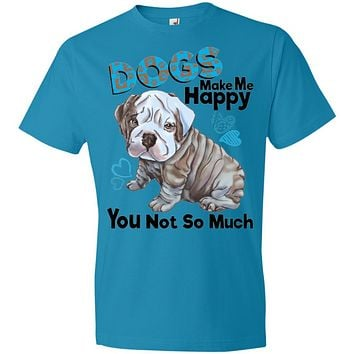 English bulldog premium T-shirt for Men, Women, Dogs Make Me Happy