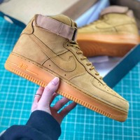 Nike Air Force 1 High 07 Af1 Lv8 Flax Wheat Sport Shoes - Best Online Sale