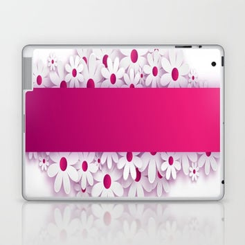 pink flowers Laptop & iPad Skin by abeerhassan