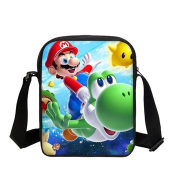 Super Mario party nes switch VEEVANV New  Designer Boys Messenger Bags Fashion Small School Handbags Cartoon Prints Girls Shoulder Crossbody Purse AT_80_8