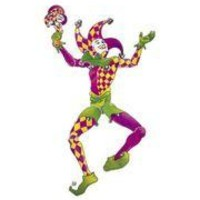 75in Tall x 20in Wide Cardboard Large Jester Jointed Cutout