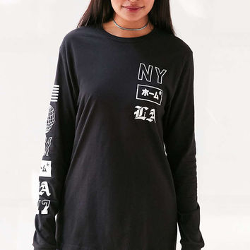 NYC/LA Long-Sleeve Tee - Urban Outfitters