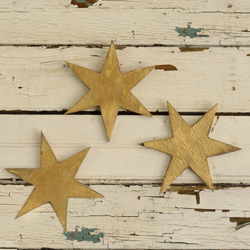 Star Set Wooden Twinkle Star Holiday Decor Rustic Style