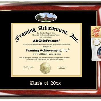 AllGiftFrames Custom Diploma Frame Embossed Howard University Best Graduation Degree Frame Double Mat Campus Fisheye Picture Howard Frame Cheap Degree Graduate Gift
