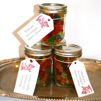 Candy Filled Mason Jar Favor