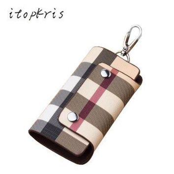 ESBONFI Fashion Women Housekeeper Leather Key Holder Home Key Chain Female Patterns Key Organizer Man Car Cover Driving