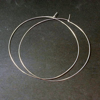 "5"" inch Silver Plated Hoop Earrings Ginormous Jumbo Giant Worlds Largest Ultr Thin Lightweight Featherweight Earrings Wholesale 775"
