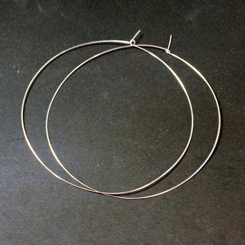 """5"""" inch Silver Plated Hoop Earrings Ginormous Jumbo Giant Worlds Largest Ultr Thin Lightweight Featherweight Earrings Wholesale 775"""