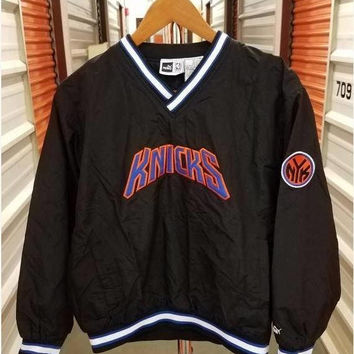 New Year SALE 15% Off Vintage 1990's NBA New York Knicks Basketball Pullover Jacket. Youth Size Large.