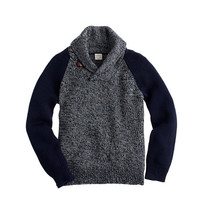 crewcuts Boys Cotton Shawl-Collar Baseball Sweater
