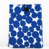 Spotty IPad case, tablet cover sleeve blue spotty fabric for IPad or IPad Air girly gift for teen uk seller