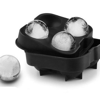 Ice Cream Maker Ice cream balls making molds Bar Drink Whiskey Sphere Big Round Ball Ice Brick Cube Maker Tray Mold Ice Tray