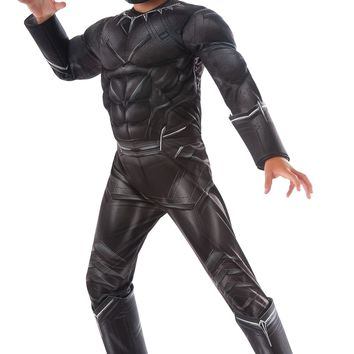 Rubies Costume Captain America Civil War Deluxe Black Panther Costume Large