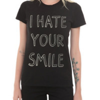 I Hate Your Smile Girls T-Shirt 3XL
