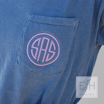 embroidered monogram t-shirt NCF