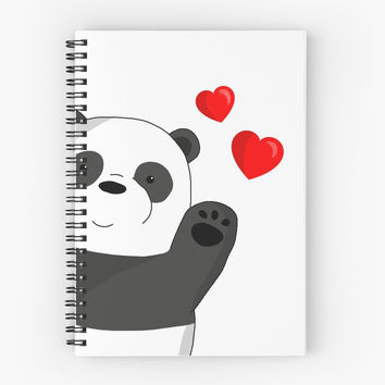 'Cute panda' Spiral Notebook by ValentinaHramov
