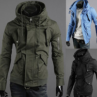 Fashion Men Zip Slim Fit Jacket
