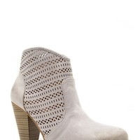 Perforated Bootie - Grey Oil