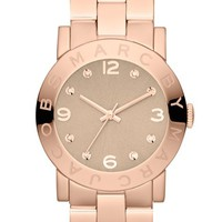 Women's MARC BY MARC JACOBS 'Amy' Crystal Bracelet Watch, 36mm - Rose Gold/ Wheat