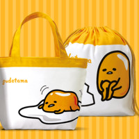 "Sanrio Gudetama Family Mart Limited 12"" Tote Bag  & Drawstring Set"